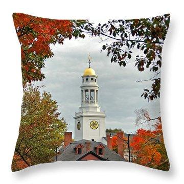 First Parish Church Throw Pillow by Joann Vitali