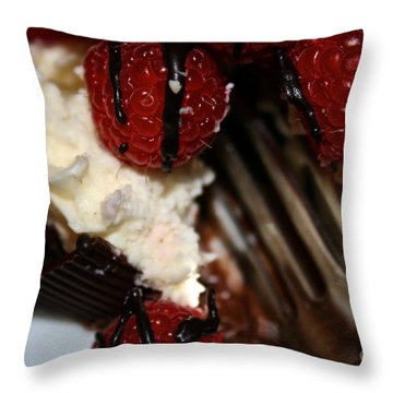 First Taste Throw Pillow by Susan Herber
