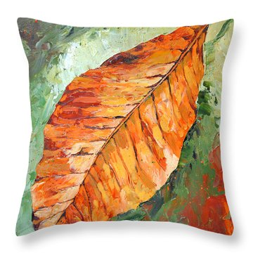 First To Fall Throw Pillow