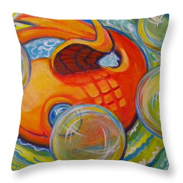 Fish Fun Throw Pillow