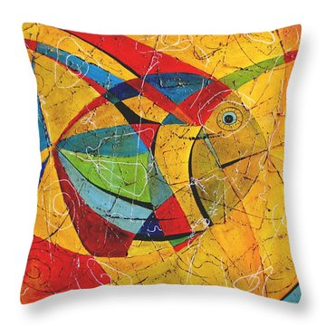 Fish V Throw Pillow