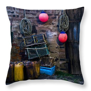 Fishermans Supplies Throw Pillow by John Short