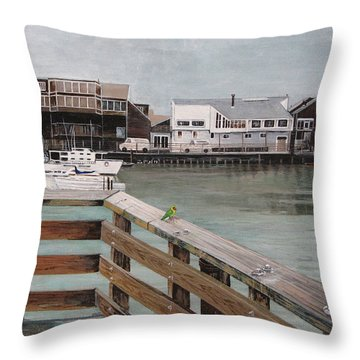 Fishermans Wharf San Francisco Throw Pillow by Stuart B Yaeger