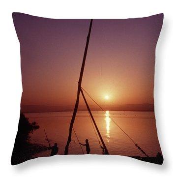Fishermen Throw Pillow by Vilas Malankar
