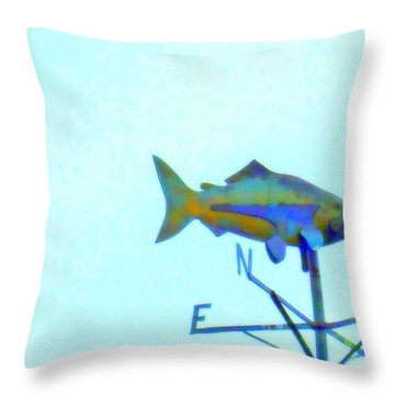 Fishing In Vane Throw Pillow by Randall Weidner