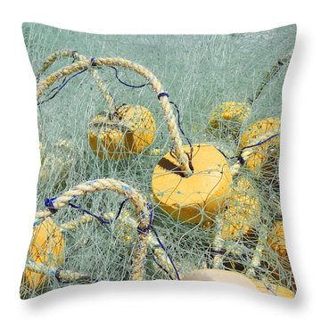 Fishing Nets And Weights Throw Pillow