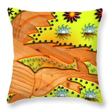 Fishing Under The Stars Throw Pillow by Robert Margetts