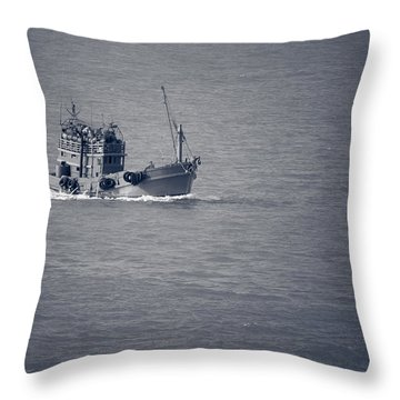 Fishing Vessel Throw Pillow