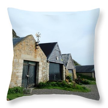 Throw Pillow featuring the photograph Fishman Shed by Katy Mei