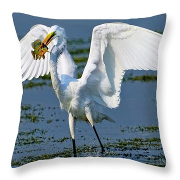 Fish'n In The Morning Throw Pillow