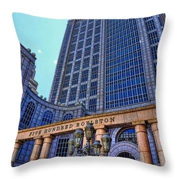 Five Hundred Boylston - Boston Architecture Throw Pillow