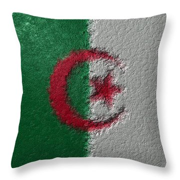 Flag Of Algeria Throw Pillow