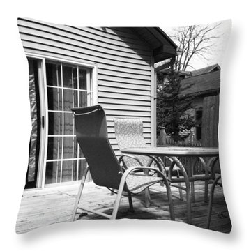 Flag Series No. 3 Throw Pillow by Julia Pappas