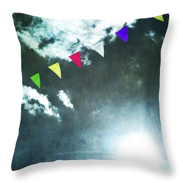 Flags Throw Pillow by Bernard Jaubert