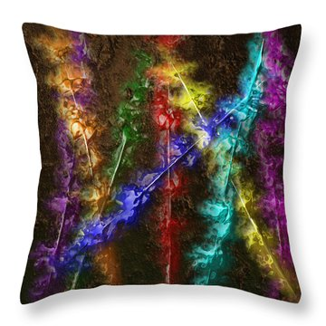 Flaming Arrows Throw Pillow by Michael Hurwitz