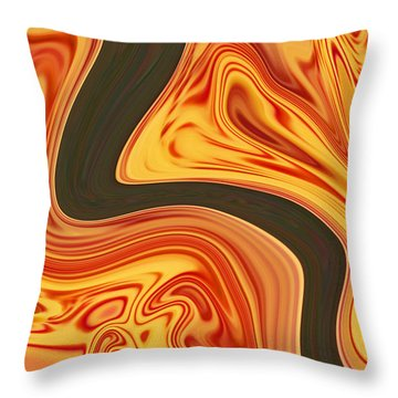 Flaming River Throw Pillow by Aimee L Maher Photography and Art Visit ALMGallerydotcom