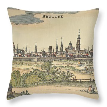 Flanders: Bruges, 1720 Throw Pillow by Granger