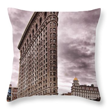 Flat Iron Building Throw Pillow