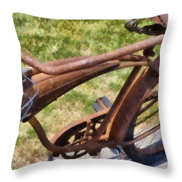 Flat  Throw Pillow by Michelle Calkins