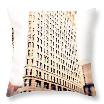 Flatiron Building Nyc Throw Pillow by Kim Fearheiley