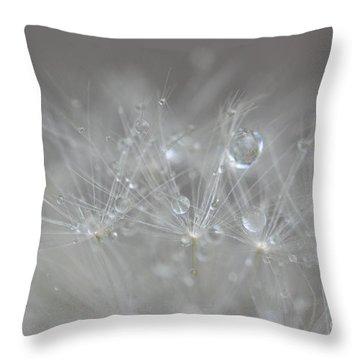 Fleur Cristalline Throw Pillow