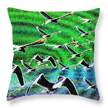 Flight Into Oblivion Throw Pillow