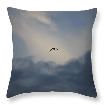 Throw Pillow featuring the photograph Flight To Heaven by Penny Meyers