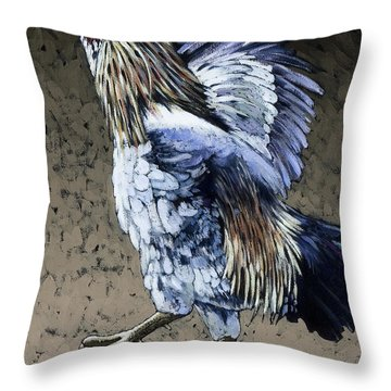 Flight Training Throw Pillow by Bob Coonts