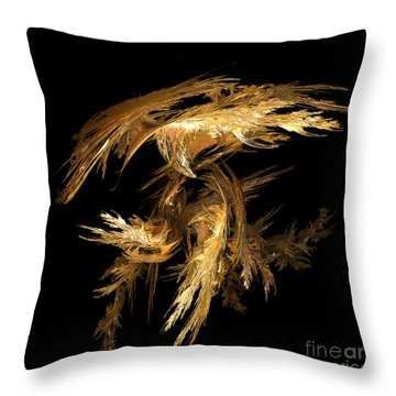 Flight Throw Pillow by Yvonne Johnstone