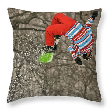 Flippin' Throw Pillow by Lois Bryan