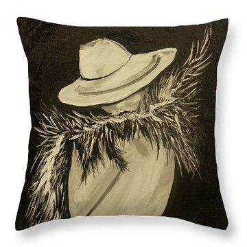 Flirt Three Throw Pillow by Leslie Allen