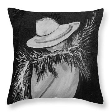 Flirt Two Throw Pillow by Leslie Allen