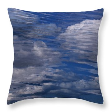 Floating Clouds Throw Pillow by Michael Mogensen