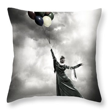 Floating Throw Pillow by Joana Kruse