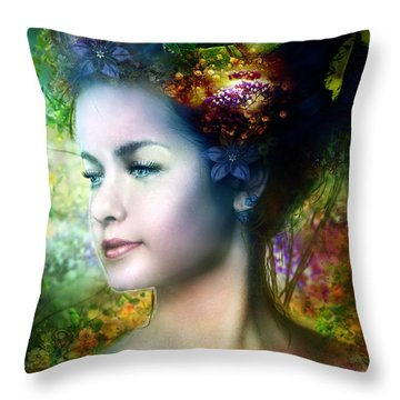 Flora Throw Pillow by Mary Hood