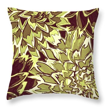Floral Abstraction 19 Throw Pillow by Sumit Mehndiratta