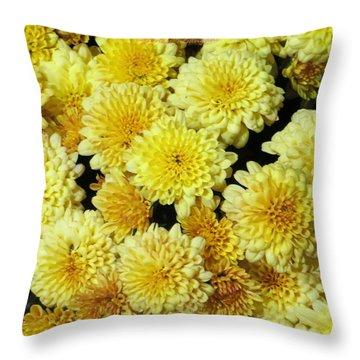 Floral Carpet Throw Pillow by Sonali Gangane