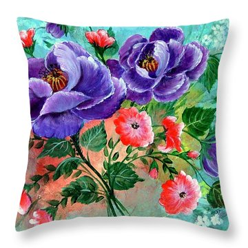 Floral Frenzy Throw Pillow