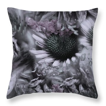 Floral Montage No.1 Throw Pillow by Bonnie Bruno
