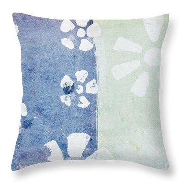 Floral Pattern On Old Grunge Paper Throw Pillow by Setsiri Silapasuwanchai