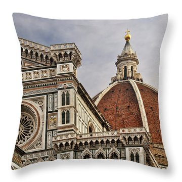 Florence Duomo Throw Pillow by Steven Sparks