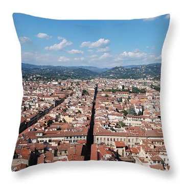 Florence From The Duomo Throw Pillow by Dany Lison