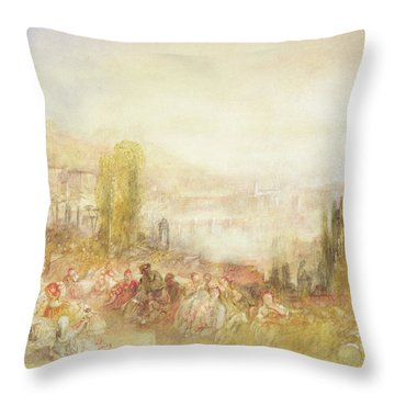 Florence Throw Pillow by Joseph Mallord William Turner