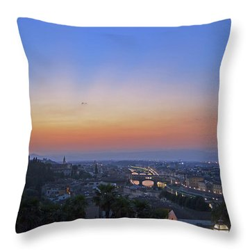 Florence Sunset Throw Pillow by La Dolce Vita