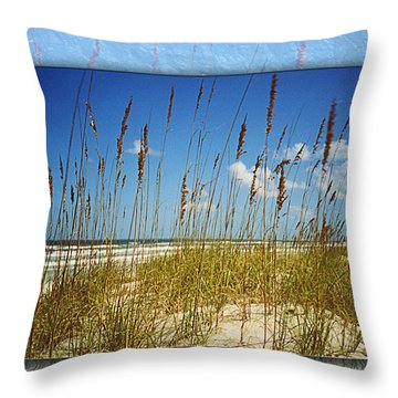 Perfect Day At A Florida Beach Throw Pillow