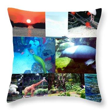 Florida Collage 001 Throw Pillow