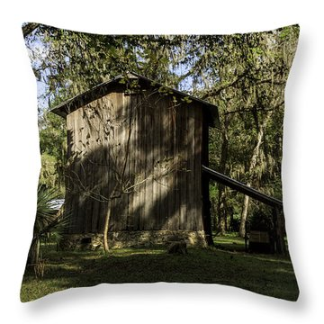 Florida Cracker Barn Throw Pillow by Lynn Palmer