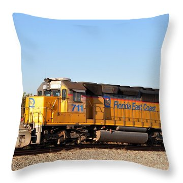 Florida East Coast Sd40-2 711 Throw Pillow