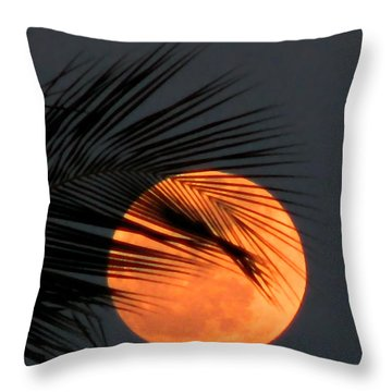 Florida Moonrise Throw Pillow