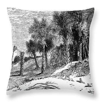Florida: St. Johns River Throw Pillow by Granger